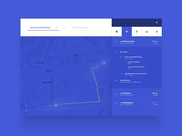 Directions Module UI Challenge — Week 2 by Mario Šestak