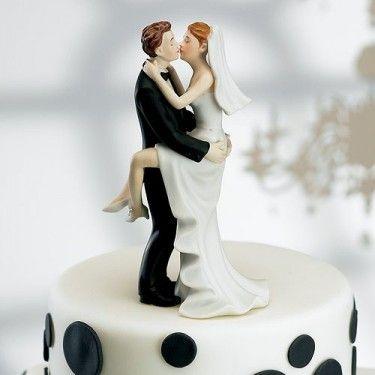 la figurine de mariage baiser fougueux - Figurine Mariage Humoristique Pas Cher
