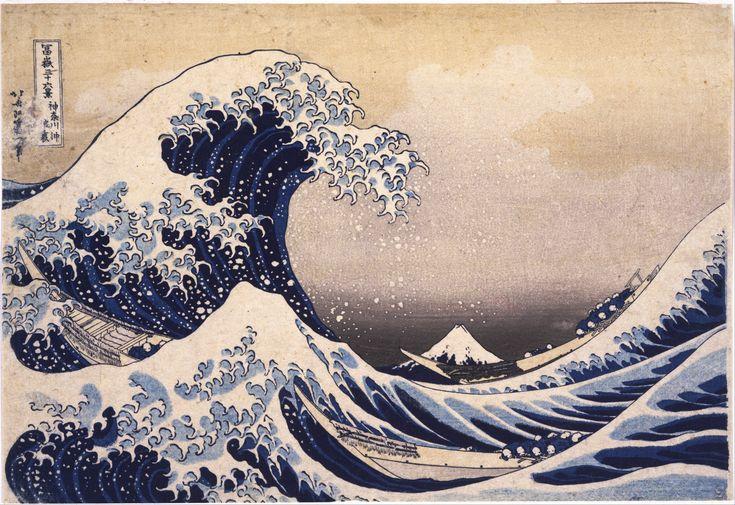 Katsushika_Hokusai. Thirty Six Views of Mount Fuji The Great Wave Off the Coast of Kanagawa