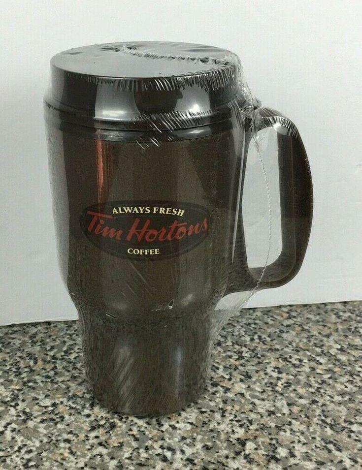 Tim Hortons Plastic Travel Mug Brown Always Fresh Coffee