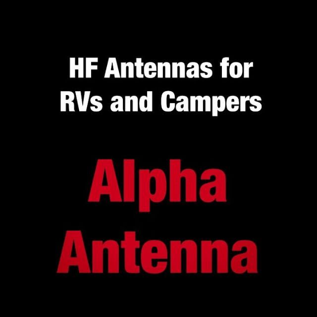 Hf Antennas For Rv Campers Here It Is Mounted And Bonds To The Ladder And Frame Through The Included Jaw Mount Alphaantenna Ham Hf Radio Antennas Antenna