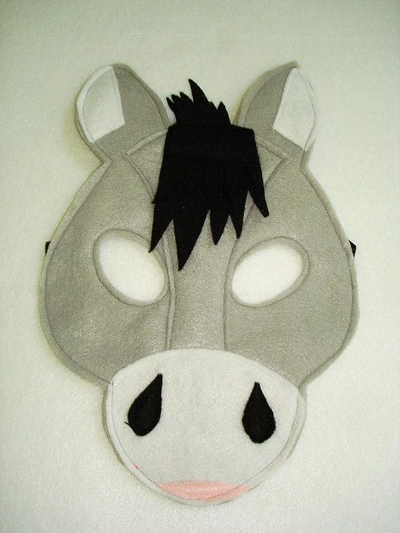 17 best images about mask on pinterest bear felt sheep for Donkey face mask template