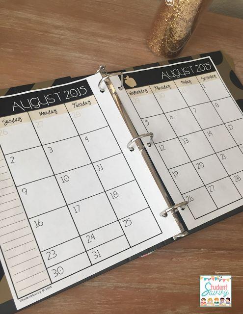 Teacher Binder - Tips & FREEBIES! Editable printables for teacher binder!