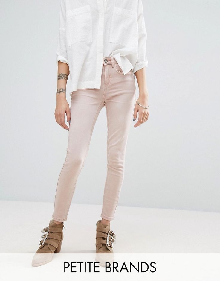 Get this New Look Petite's skinny jeans now! Click for more details. Worldwide shipping. New Look Petite Skinny Jean - Pink: Petite jeans by New Look Petite, Stretch denim, Mid-rise waist, Concealed fly, Functioning pockets, Skinny cut, Skinny fit - cut very closely to the body, Machine wash, 79% Cotton, 19% Lyocell, 2% Elastane, Our model wears a UK 8/EU 36/US 4. High Street heroes New Look introduce New Look Petite ; a trend-led hit of fast fashion in whittled down sizes perfect for…