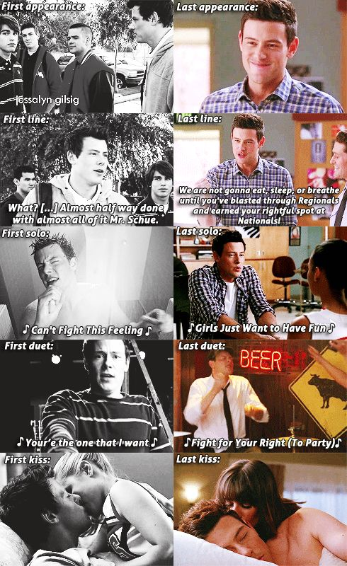 Cory Monteith as Finn Hudson, he was a hero who should never be forgotten for his amazing talent....