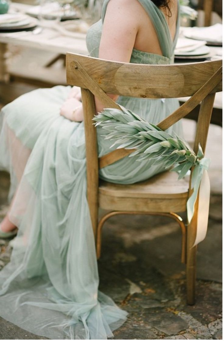 Olive chair detail