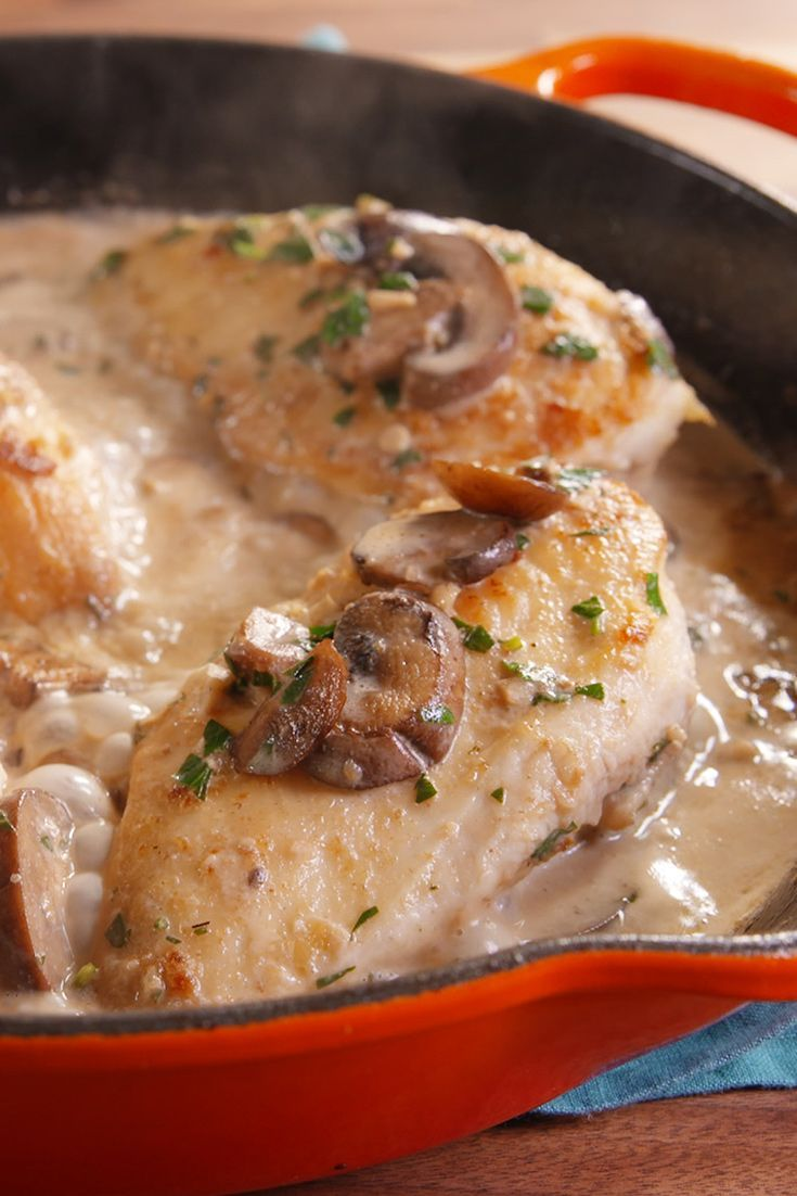 The Internet has spoken — this chicken marsala recipe is OFFICIALLY the most popular chicken dish on the web. Click for the recipe.