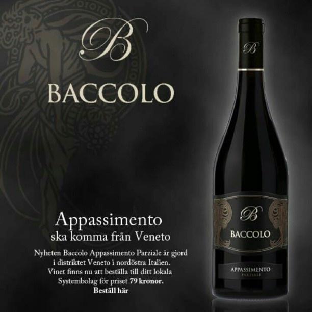 Baccolo Appassimento Parziale, 2012. #stockholmwinelab #stockholm #vin #Systembolaget #wine #rödvin