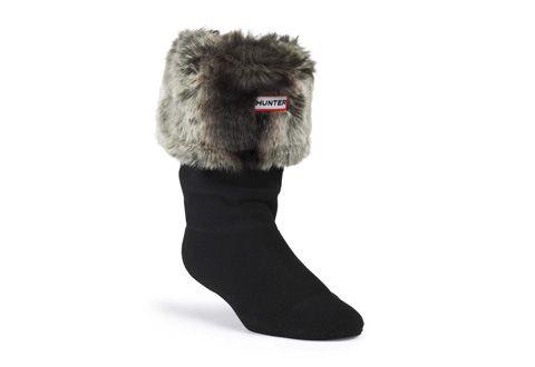 Hunter Ponožky - Short Furry Cuff Welly Socks - s25407-cgr