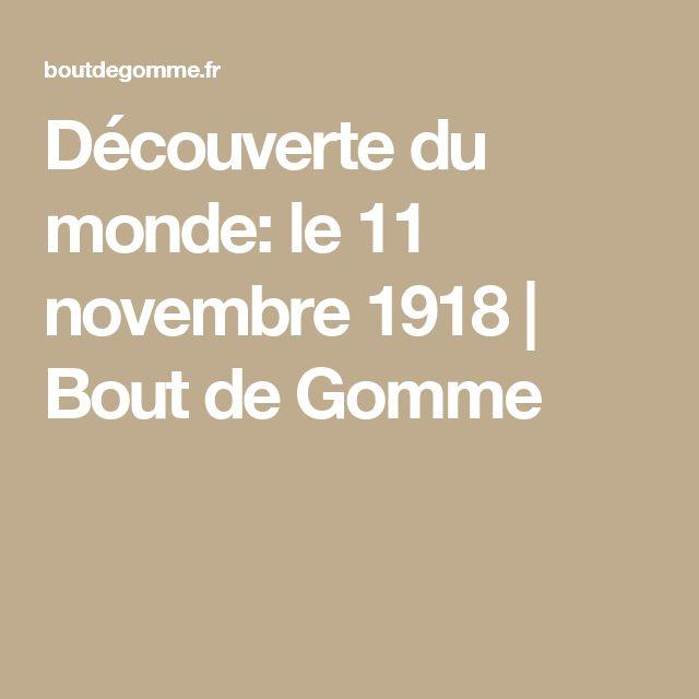 Découverte du monde: le 11 novembre 1918 | Bout de Gomme