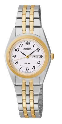 Seiko Ladies two-tone stainless steel bracelet watch- at Debenhams.com