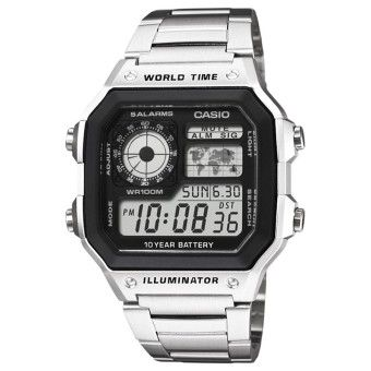 Cheap CASIO AE-1200WHD-1AVDF Men's Watch SilverOrder in good conditions CASIO AE-1200WHD-1AVDF Men's Watch Silver You save CA680FAAQ181ANMY-753497 Watches Sunglasses Jewellery Watches Men Casio CASIO AE-1200WHD-1AVDF Men's Watch Silver