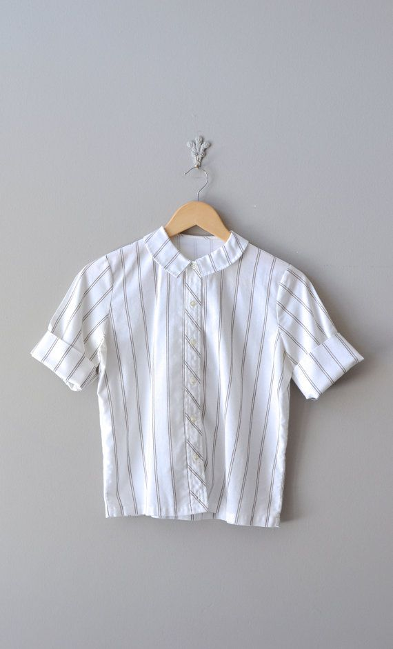 vintage 1950s Library Stripe blouse