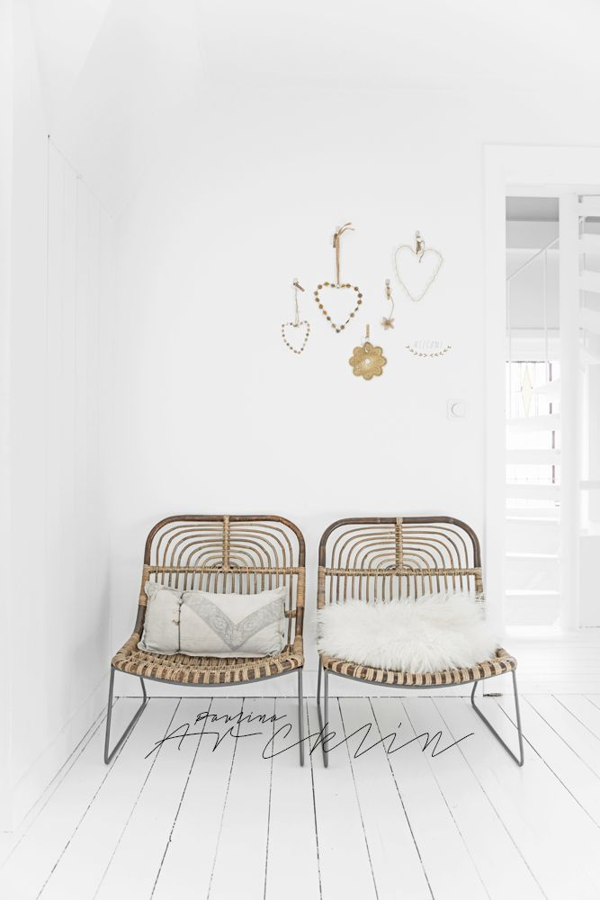 Wicker chairs and little hearts
