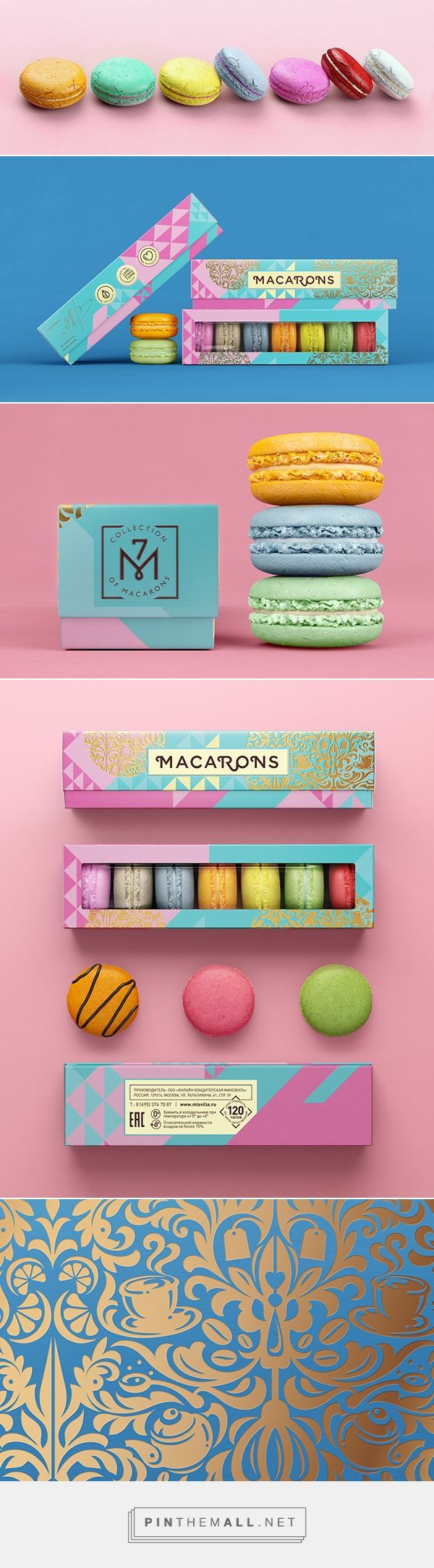 Mixville | Sweets packaging on Behance curated by Packaging Diva PD. Who wants some macaroons now : )