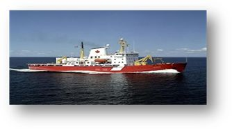 CCGS Amundsen  Class: Medium Icebreaker. A sizable vessel capable of sustained icebreaking and escort operations in the Arctic for 2 seasons per year and in the Great Lakes, St. Lawrence Seaway and Atlantic coast in winter. Home port: Québec, Que.  Length: 98 m   Beam: 19.5 m Gross tonnage:  5911 t  Crew/officer capacity: 31  Cruising speed: 14kts  Builder: Burrard Dry Docks Ltd.   Launched: 1979  Status: In service
