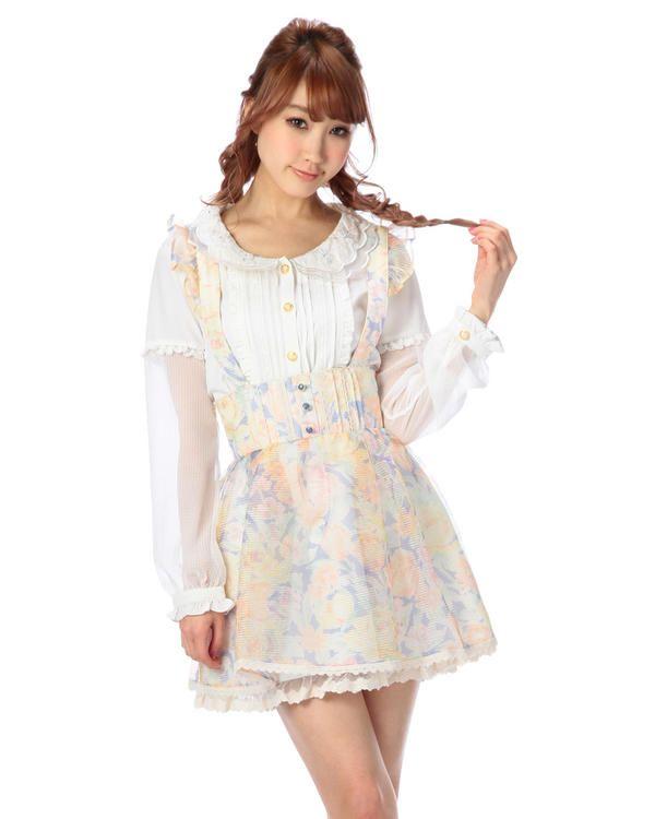 サス付き花柄オーガンジースカート 295:SHOP HIT ITEM   渋谷109で人気のガーリーファッション リズリサ公式通販