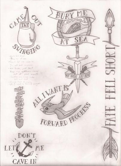 Pop punk tattoos omg I want them all