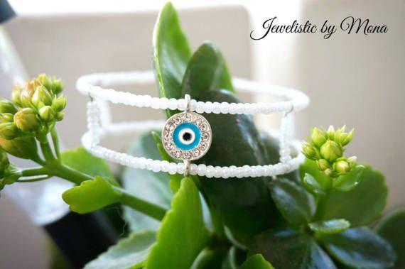 Gorgeous double memory wire bracelet with by JewelisticbyMona