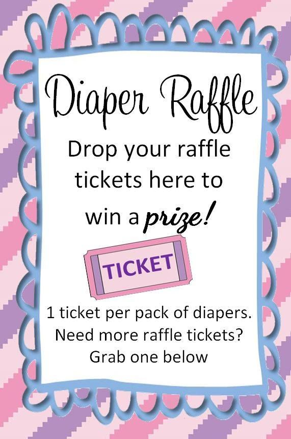 ACTUAL - diaper raffle ticket drop sign - my creation, feel free to use