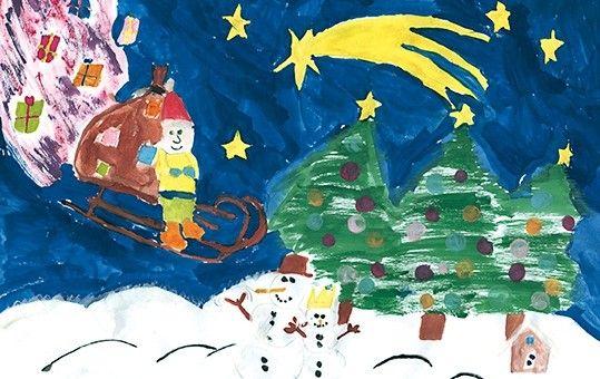 Weihnachtskarten Mit Gutem Zweck.Weihnachtskarte Mit Gutem Zweck Spende Deutsche Kinderkrebsstiftung
