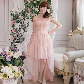 Buy 'Luxury Style – One-Shoulder Rosette High-Low Party Dress' with Free Shipping at YesStyle.com.au. Browse and shop for thousands of Asian fashion items from China and more!
