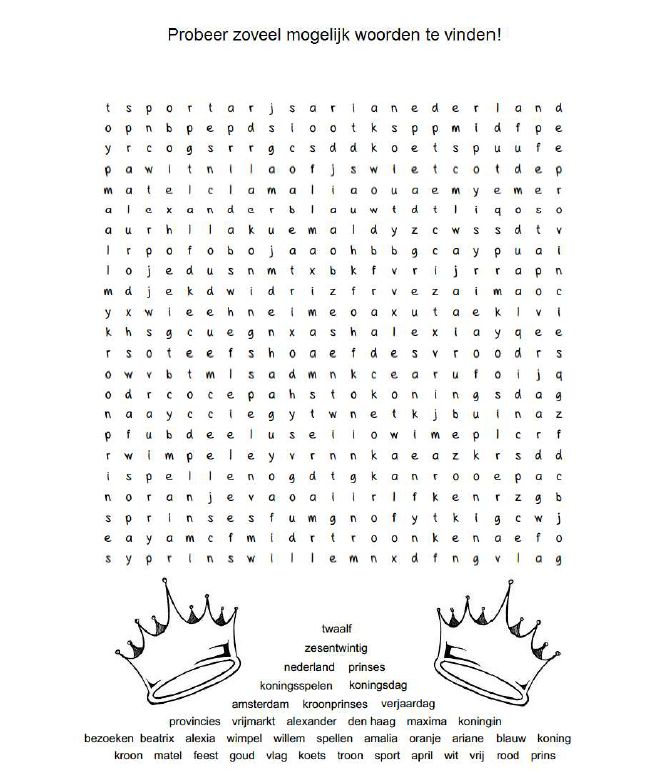 Probeer zoveel mogelijk woorden te vinden [www.lessenvanlisa.nl]