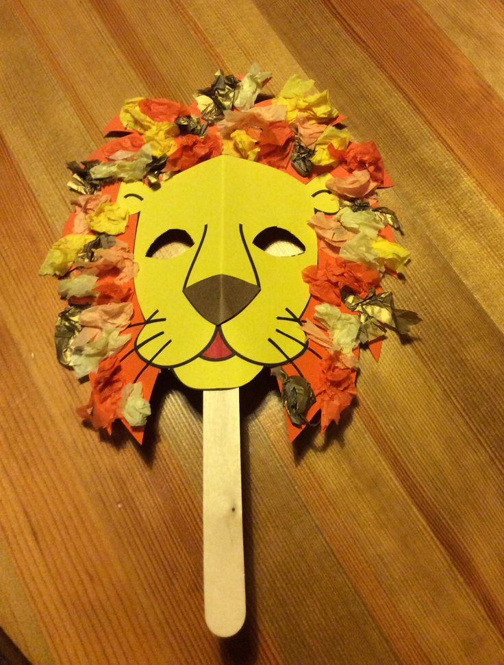 Lion mask craft for Daniel in the Lions Den bible story