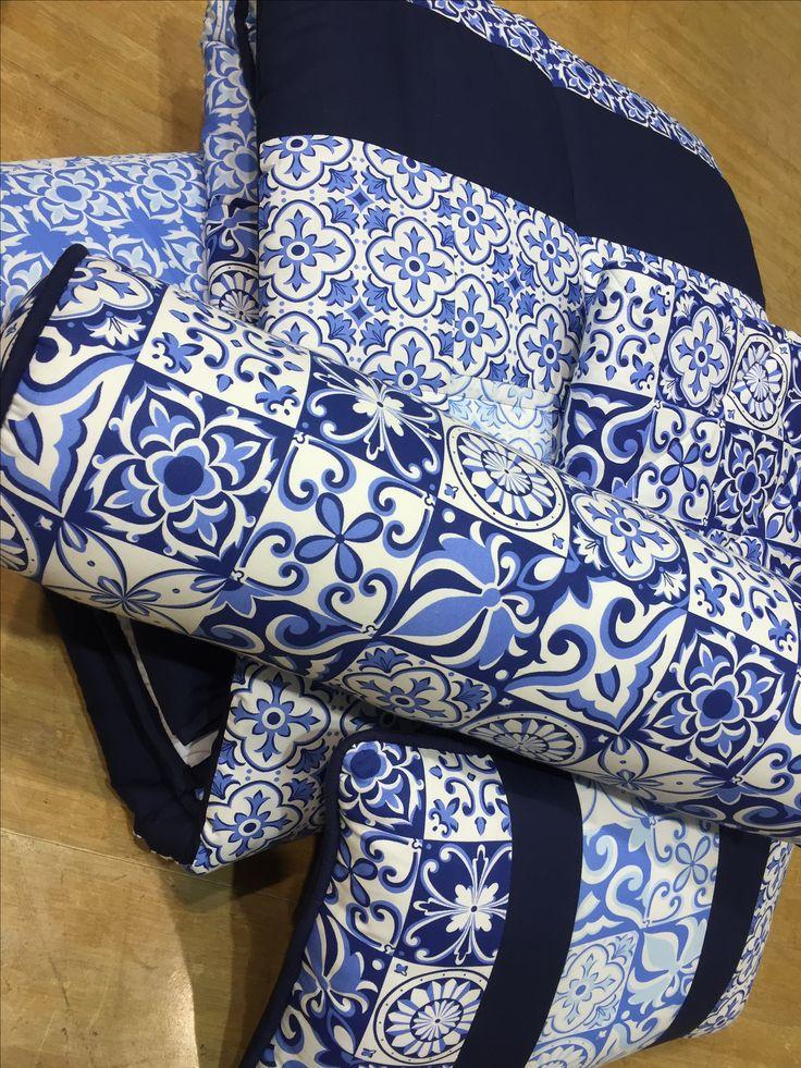 edredon patchwork azulejo portugues