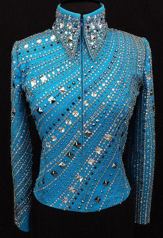 Turquoise Beaded Western Pleasure Jacket by Juhlz ~ Just Peachy                                                                                                                                                                                 More