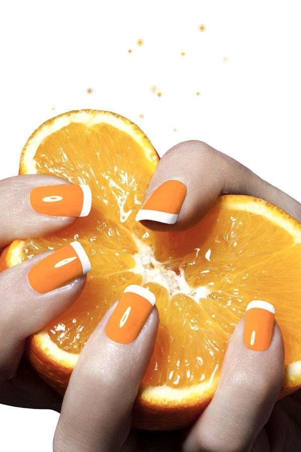 top nails 2018 orange nail art orange nails  #top #nails #trends