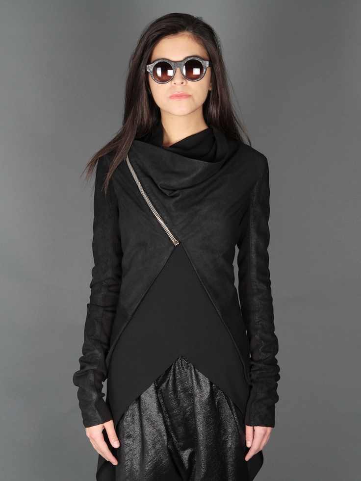 Rick Owens Leather Jacket & Kuboraum Sunglasses    //basically, this whole outfit. want.
