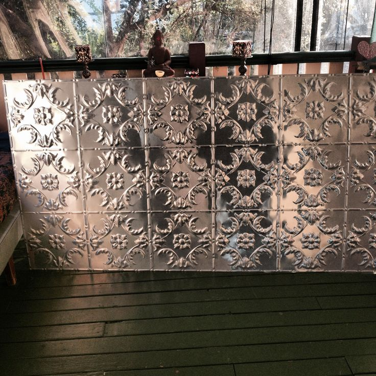 Pressed tin for the ceiling in the TinSnip Hairoom #thetinsniphairoom #caravans #salons