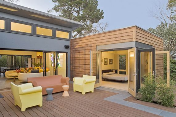 /\ /\ . Some manufacturers of modular homes pride themselves on using eco-friendly construction techniques and materials, such as certified wood from sustainably managed forests, recycled steel, and energy-efficient appliances. Order the Breezehouse model shown here with optional solar panels that help lower energy costs.