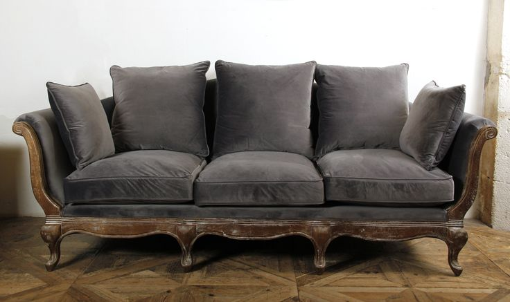 Canapé POMPADOUR Velours gris