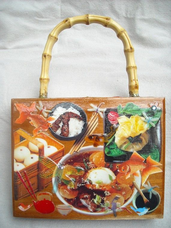 Oriental Japanese Foods, Gold Fish & Dragonfly.Boxes Purses Crafts, Cigars Boxes Purses, Boxes Creations, Cigar Boxes, Boxes Handbags, Pretty Boxes, Boxes Decoupage