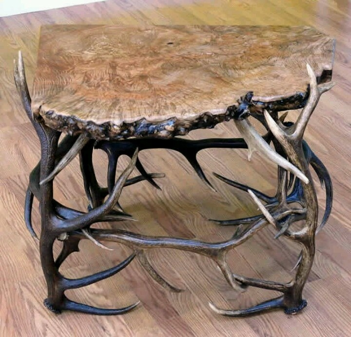 antler coffee table cabin decor pinterest tables coffee and