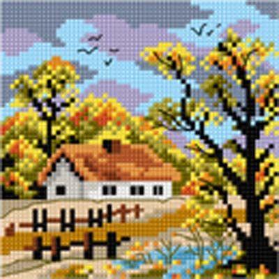 Schemat Jesień - Chatka nad strumykiem