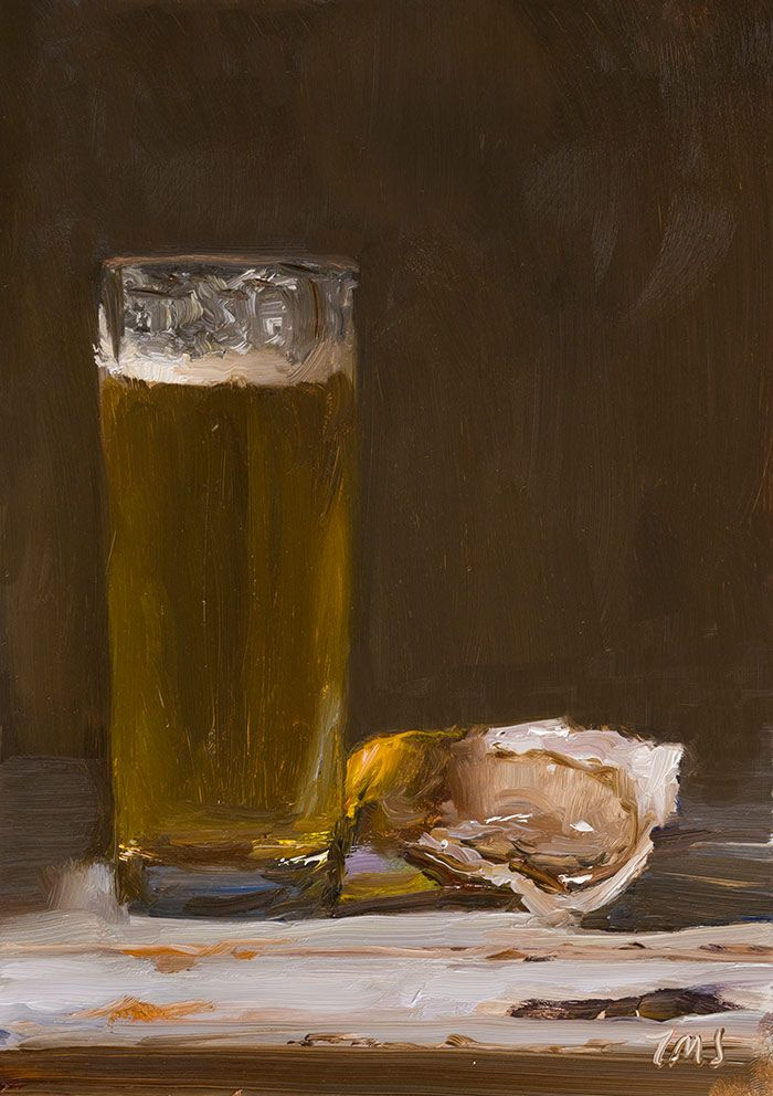 daily painting titled Beer and oysters - click for enlargement