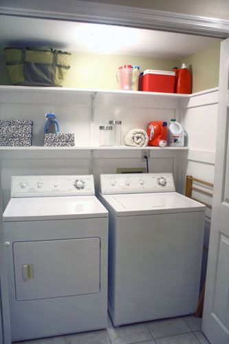 Love the trim in this laundry room.