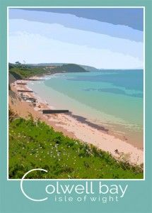 colwell bay isle of wight poster  Played on this beach as a child.