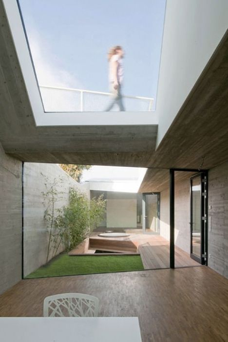 courtyard and skylight