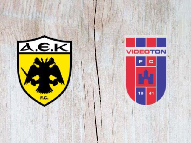 Aek Athens Vs Vidi Fc Highlights 28 August 2018 Aek Athens Vs