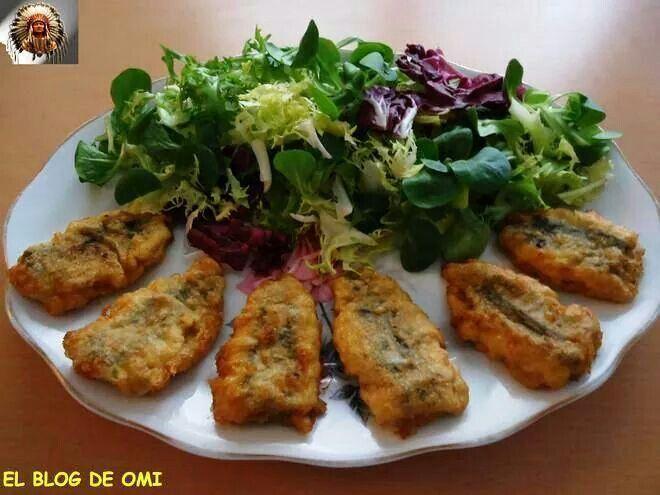 Sardinas rellenas de queso de Cabrales.