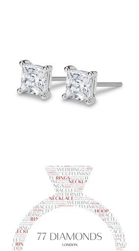Look like a #Princess with these #classic princess cut #diamond #earrings.