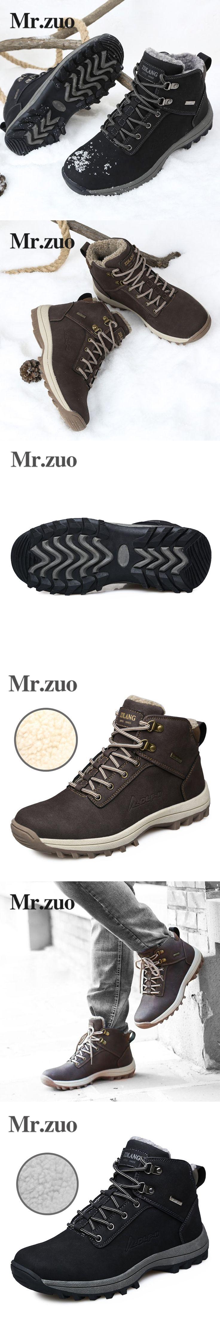 Men's Winter Sneakers 2017 Hiking Shoes boots Men Footwear Keep Warm Snow Shoes Trekking Boots Outdoor Big Sizes 45 46