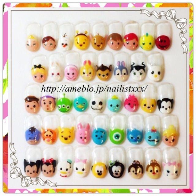 Painted Tsum Tsum nails