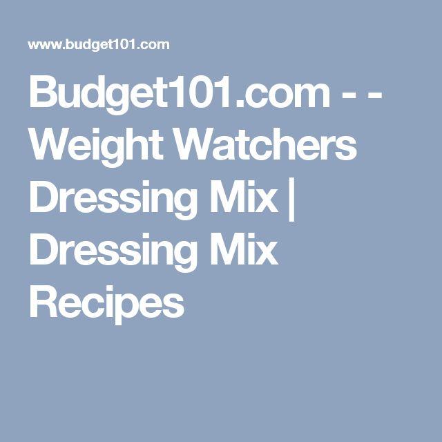 Budget101.com - - Weight Watchers Dressing Mix | Dressing Mix Recipes