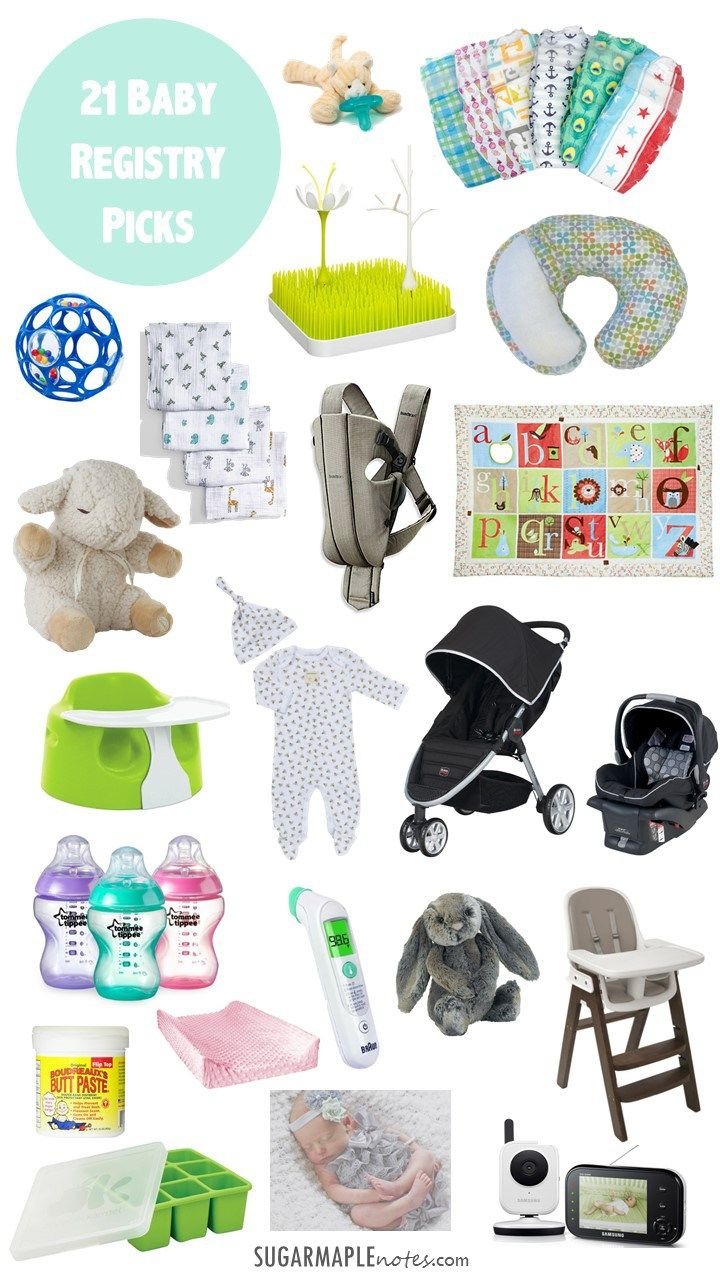 21 Baby Registry Picks: New mom must-haves for your first baby registry! These are a few of my favorite baby things. #babyregistry #bumbo #boppy #honestdiapers #wubbanub #cloudb #jellycat #burtsbees #britax #aden+anias