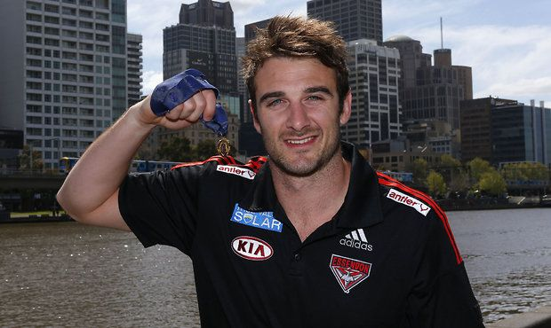 Jobe Watson hands back the 2012 Brownlow medal.  It will now be retrospectively given to joint runners-up Trent Cotchin (Richmond) and Sam Mitchell (Hawthorn).